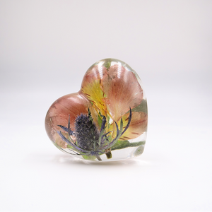 Resin Heart Paperweight