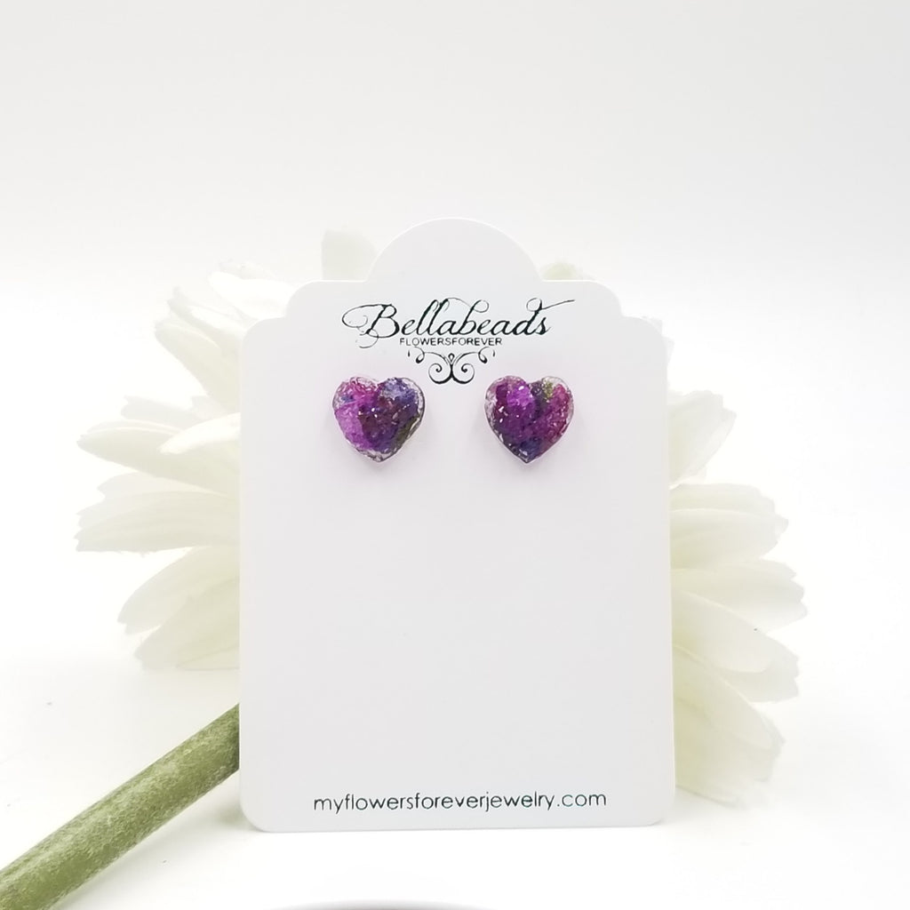 Resin Heart Earrings