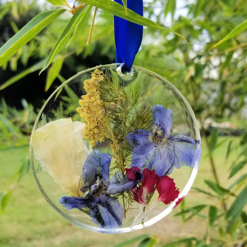 Resin Flower petal ornament keepsake