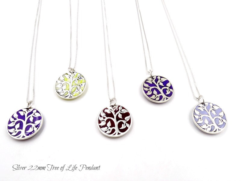 Petite Tree of Life Gold Plated Pendant or Sterling Silver Tree of Life Pendant