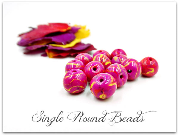 Single Round Bead 12mm