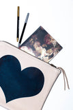 Totem Salvaged Navy Heart Large Clutch