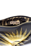 Totem Salvaged The Eye Black Leather Zip Pouch