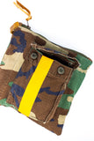Totem Salvaged Vintage Camo Stripe Pouch