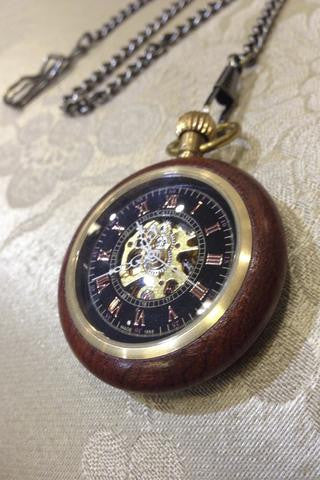 Big Ben wooden steampunk pocket watch
