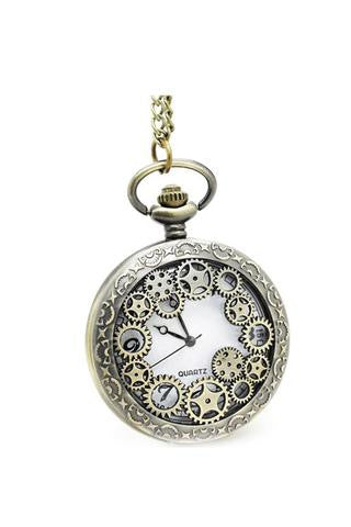 Gears of Time Cog Steampunk Pocket Watch
