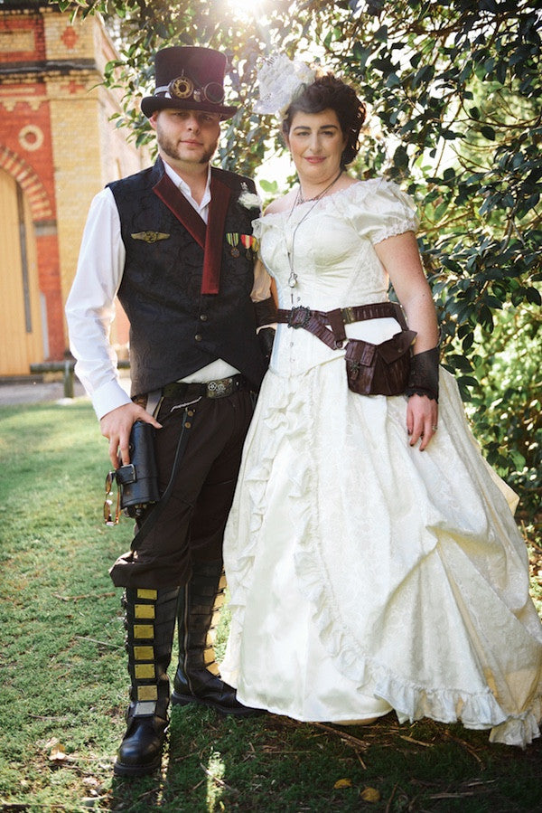 David loved wearing his outfit to marry the dream girl of his life