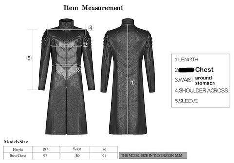 measuring points for the Nilfgaard Coat