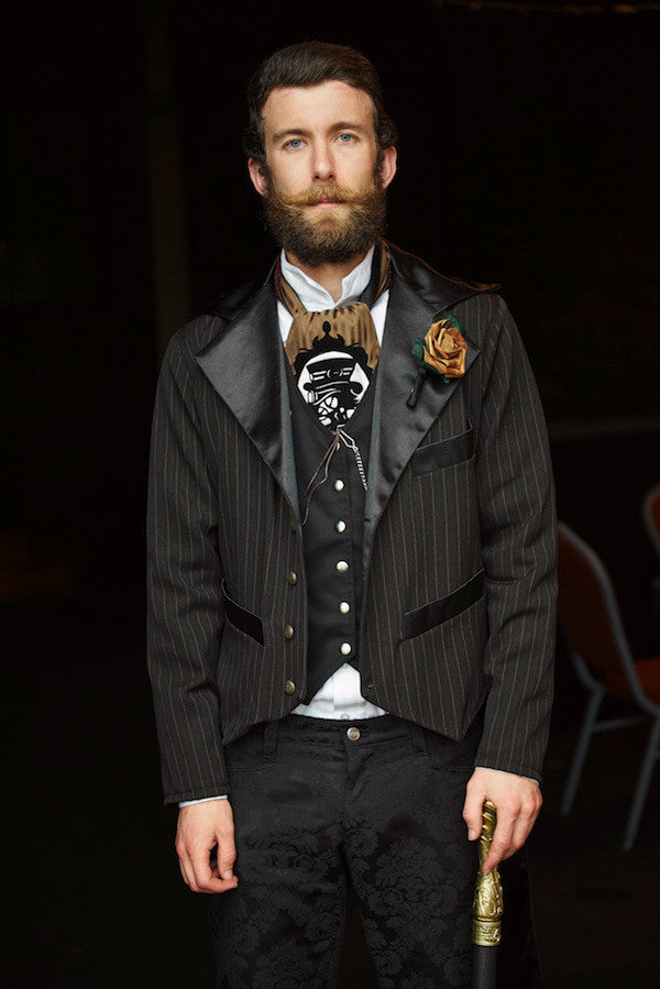 dapper steampunk groomsman look outfit by Gallery Serpentine