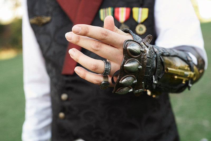 epic steampunk gauntlet glove