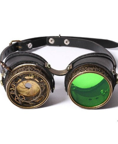 cool steampunk goggles with an iris that opens and shuts