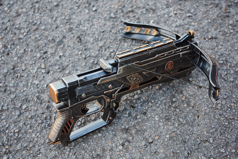 steampunked up crossbow by Skavs steampunk workshop