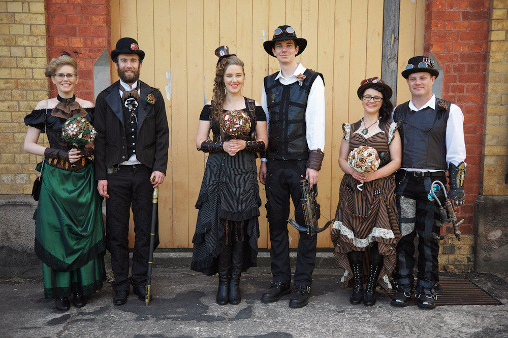the bridal party steampunk style