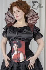 waist reducing corset for fans of pre raphaelite art and corsetry made here in Australia
