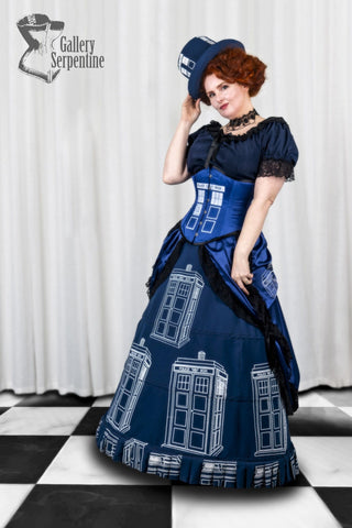 Doctor Who Inspired Tardis Ensemble - Police Box Outfit - Doctor Who Cosplay Ensemble