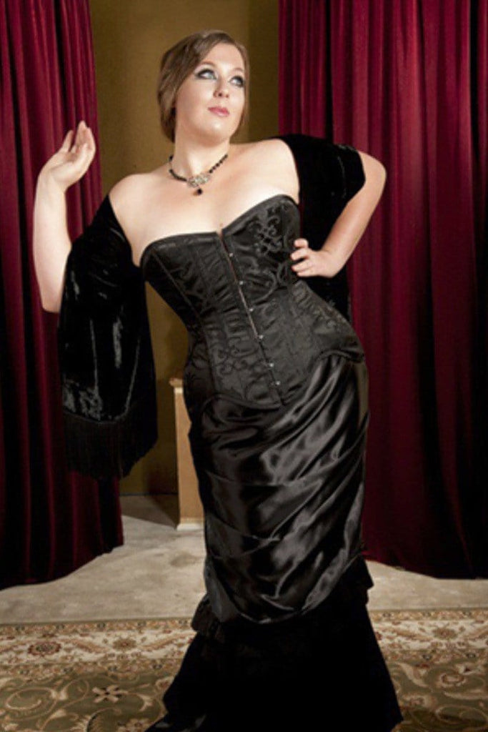 ba5cc44ff25 Plus size version of the Over bust steel boned La Viola corset made in  Australia from