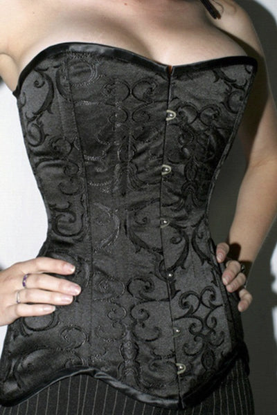 941d0d1468bcf ... Over bust steel boned La Viola corset made in Australia from baroque  patterned brocade by Gallery ...