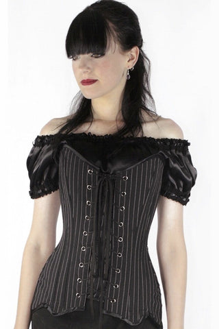 Longline Pinstripe Femme Fatale, made to order