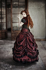 Dragons Blood gothic steampunk wedding dress