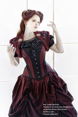 gothic steampunk dragons blood wedding gown