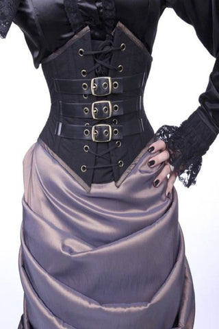 Steampunk Buckled Pointy Cincher