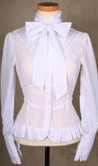 white gothic victorian blouse on sale, size 12 designed in Australia