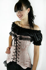 old world charm victorian style classic under corset chemise in black satin