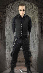 gothic alternative street wear cargo pants, 100% cotton, steampunk or Burning Man festival clothing