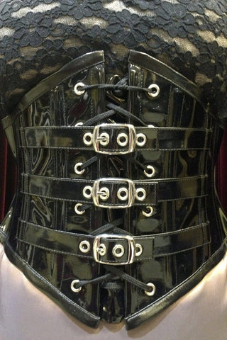 PVC Buckled Pointy Cincher