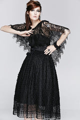 gothic black eyelash lace cape top from Punk Rave at Gallery Serpentine