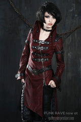 Punk Rave Protector of Dragons Womens Coat Y-261RD at Gallery Serpentine gothic Look
