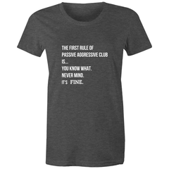 funny meme t-shirt based on Fight Club quote printed and made in Australia, asphalt maple coloured cotton, white print