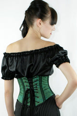 under corset tops to wear under corsets in black satin