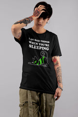 black cat bad slytherin cat affecting sleep meme tshirt