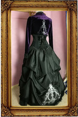 victorian fantasy fashion cosplay gown for the Deathly Hallows legend, made in Australia