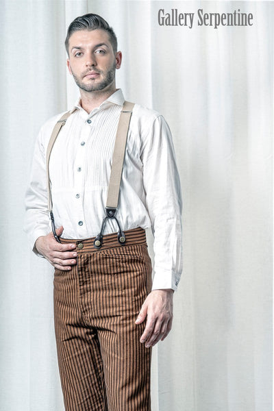 14cf0b184 ... Authentic tan Outlaw trousers for men suitable for steampunk