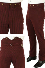 The original outlaw trousers in dark red