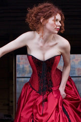 Red Gothic Wedding Dress custom made to measure in Australia