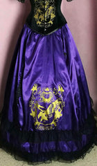 gothic victorian Ravenclaw victorian fantasy skirt worn over a hoop by gallery serpentine