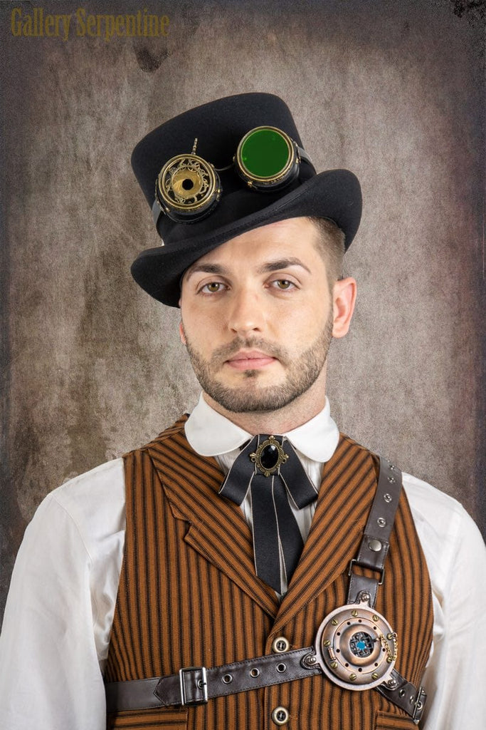 a65c3ba33e9a2 full outlaw steampunk Wild West cosplay costume featuring the 100% wool  felt top Victorian top