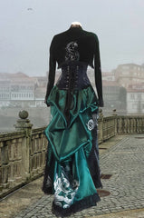 Potion Mistress Corset Gown made in Australia for Slytherin fandom in a baroque style