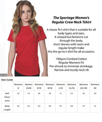 The Sportage Women's t-shirt sizing guide