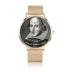 gold version of the shakespeare printed digital watch high quality comes in 3 sizes and 3 colours