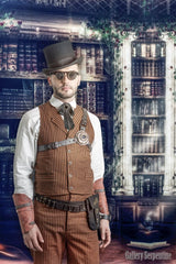 Westworld steampunk shoot featuring male model in the steampunk flip top flip up sunglasses for Gallery Serpentine