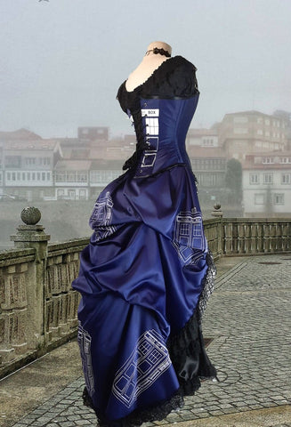 Police Box Blue Time Travel Gown