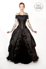 Dark Queen Gothic Wedding Dress includes custom steel boned corset