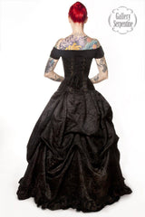 Dark Queen Wedding Dress is a custom made gothic wedding gown