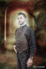Tombstone Tycoon is an old frontier victorian era gentleman's vest made from 25% wool