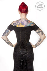 Ebony Turn of the Century Corset - Gallery Serpentine  - 3
