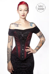 gothic victorian and steampunk over bust steel boned corset made to measure by corset makers for Gallery Serpentine clients